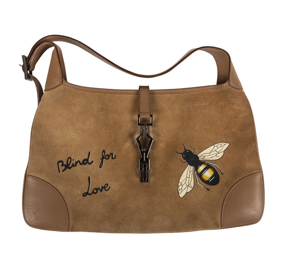 c6d16aeb3190 Customised Gucci Beige Suede Large Jackie O Shoulder Bag -