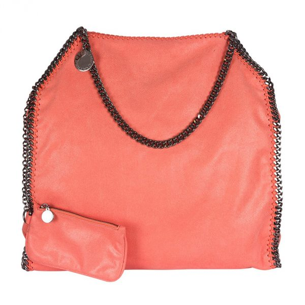 Shop Designer handbags on sale My Luxury Bargain STELLA MCCARTNEY ORANGE FAUX LEATHER FALABELLA TOTE