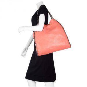 Shop Designer handbags on sale My Luxury Bargain STELLA MCCARTNEY ORANGE FAUX LEATHER FALABELLA TOTE