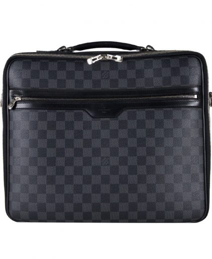 Buy Louis Vuitton Laptop Bag Online My Luxury Bargain LOUIS VUITTON DAMIER GRAPHITE CANVAS STEVE LAPTOP BAG