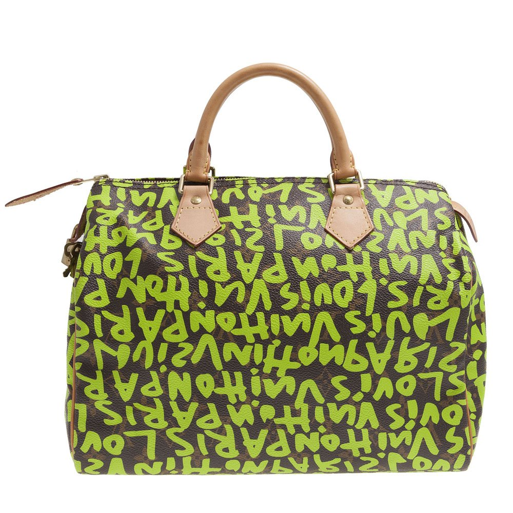 613c9b585aa Louis Vuitton Limited Edition Stephen Sprouse Lime Graffiti Speedy 30