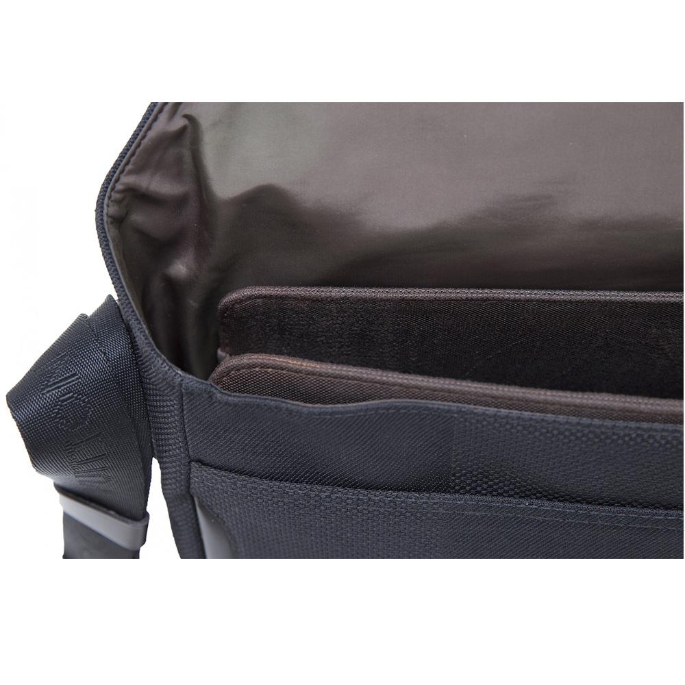 7821d7da73 LOUIS VUITTON BLACK DAMIER GEANT CANVAS MESSENGER BAG -