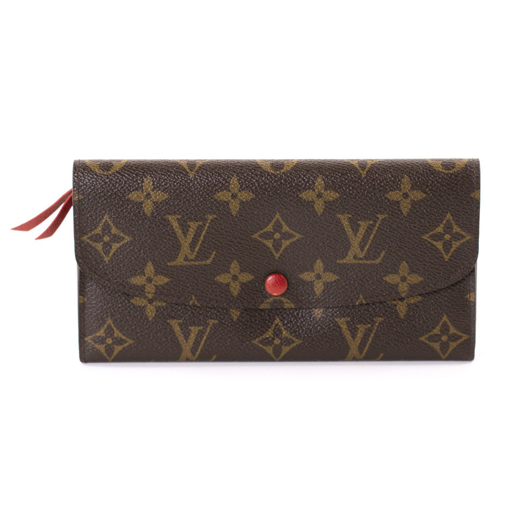 fd219e95ca1f8 LOUIS VUITTON CANVAS EMILIE CONTINENTAL WALLET -