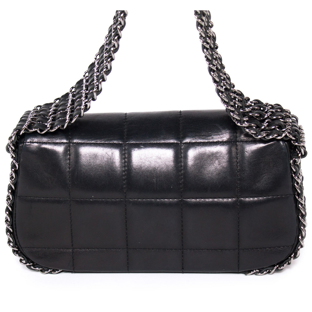 Chanel Black Quilted Leather Mini Multichain Flap Bag