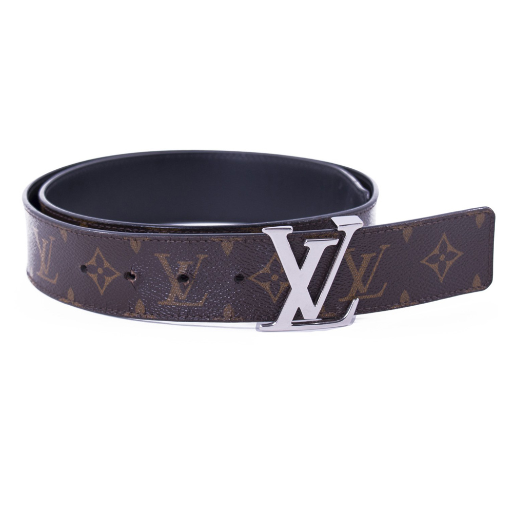 35badcc0 LOUIS VUITTON MONOGRAM LEATHER REVERSIBLE INITIAL BELT 90CM