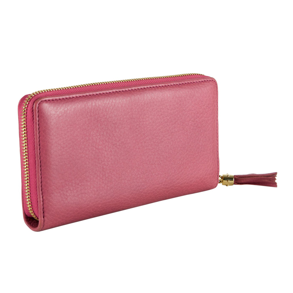 8de058bc9322 GUCCI PINK LEATHER SOHO WALLET