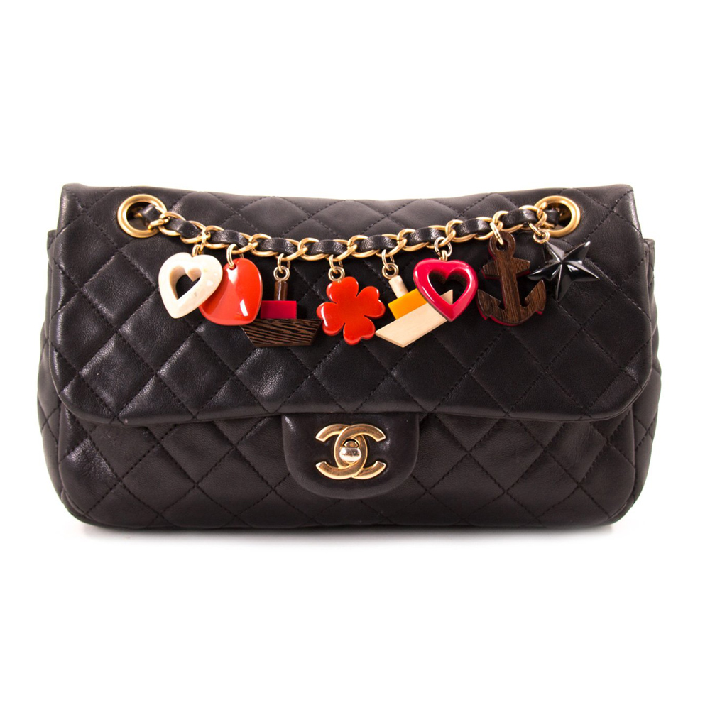 784507a16006 CHANEL BLACK QUILTED LEATHER SMALL CLASSIC SINGLE FLAP BAG -